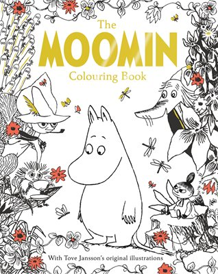 Book cover for The Moomin Colouring Book